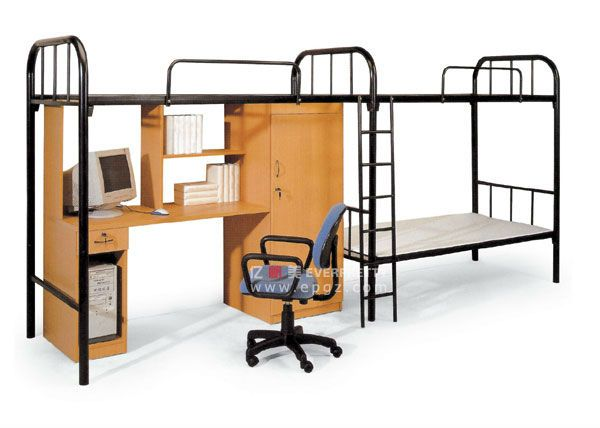 triple bunk beds cheap school furniture bunk beds wood and metal bunk bed with drawer and desk