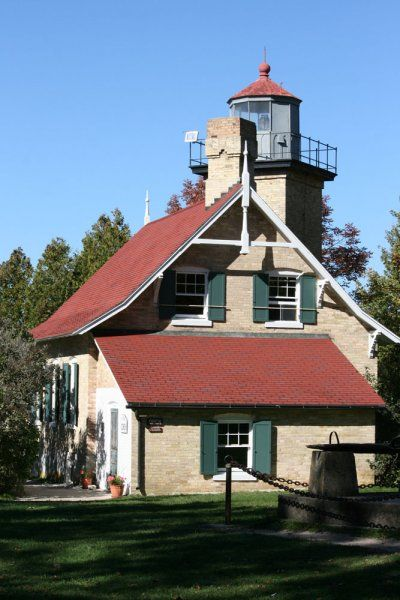 Eagle Bluff Lighthouse museum in Door County