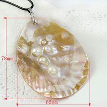 1 шт. 76 - 65 натуральный блистерной морские раковины кулон овальную форму ювелирные изделия для ожерелье бесплатная доставка(China (Mainland))
