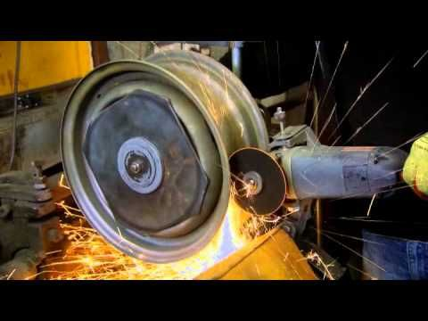 See how steel rims are widened - YouTube