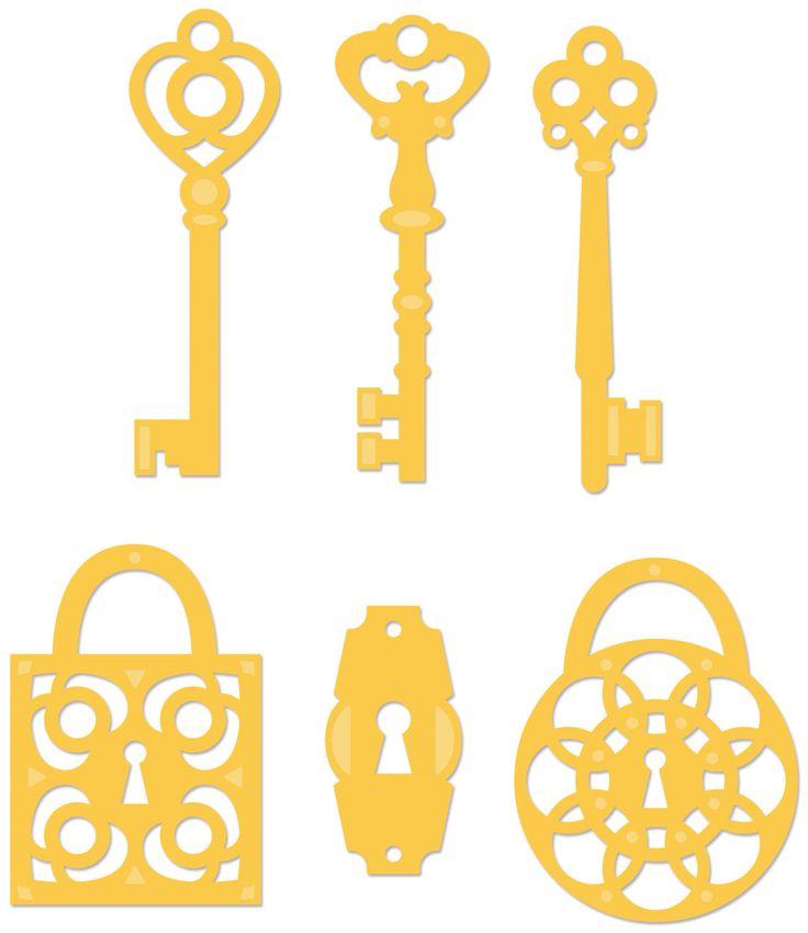 Kaisercraft Decorative Dies | Keys & Locks | DD306
