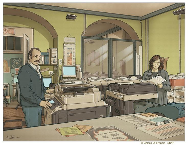 Art by © Chiara Di Francia  - Tipografia Di Francia -  http://chiaradifranciailblog.blogspot.it/    ( blog that collects comics , illustrations , print and sketch /  blog qu'il recueille bandes dessinées , illustrations , etampes et croquis )