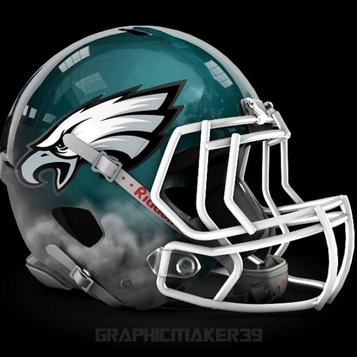 Philadelphia Eagles  NFL alternate helmet designs  New nfl helmets College football helmets y
