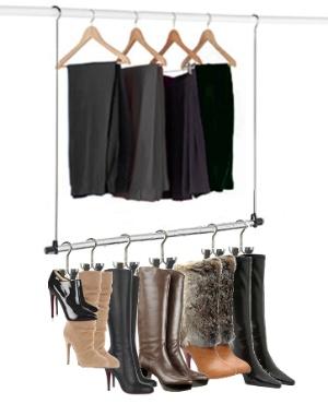 The Boot Hanger Closet Rod Hanger