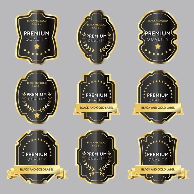 Vector Version Set Of Gold Labels For Design Food And Beverages Royal Sale Promotion Png And Vector With Transparent Background For Free Download Beer Label Illustration Gold Labels Labels