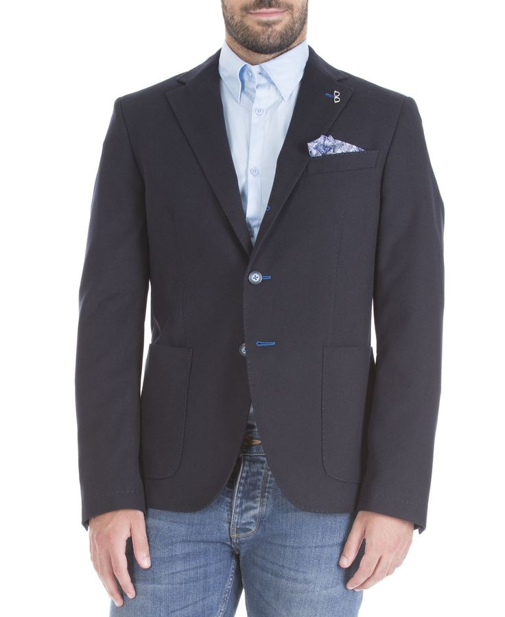 Manuel Ritz fall/winter 2015 - blue informal blazer
