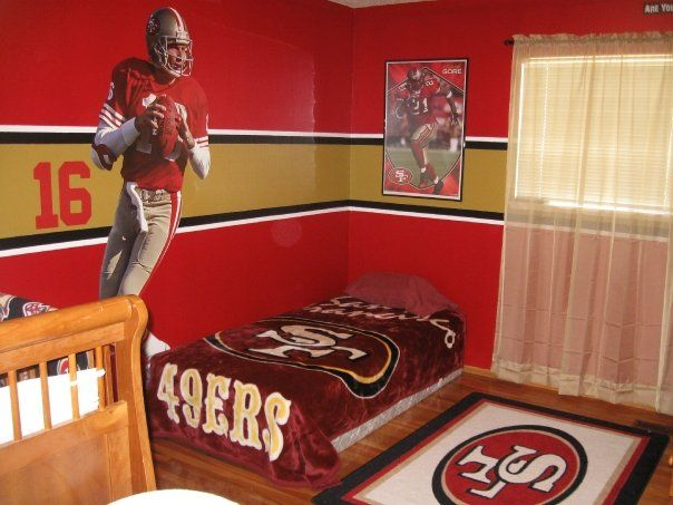 I leave the computer for 5 mins and my husband is for 49ers room decor