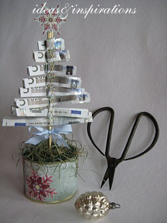 Ideas & Inspirations: Geldtannenbaum * money pinetree