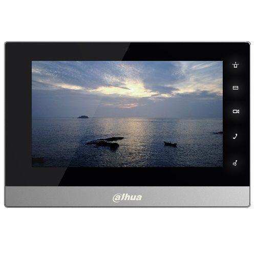 """Dahua DHI-VTH1510CH DHI-VTH1510CH Dahua DHI-VTH1510CH - 7"""" цветной TFT LCD емкостной сенсорный дисплей, разрешение экрана 800х480. Встроенная ОС Linux. Возможность записи видео и фото принудительно или при активной функции автоответчика. Индикация питания, состояния сети, пропущенных вызовов и запрета на прием вызовов в режиме ожидания. Встроенная память на 4 ГБ для видео, фото, информации. Возможность запись видео и фотографий на SD карту.Технические характеристики…"""
