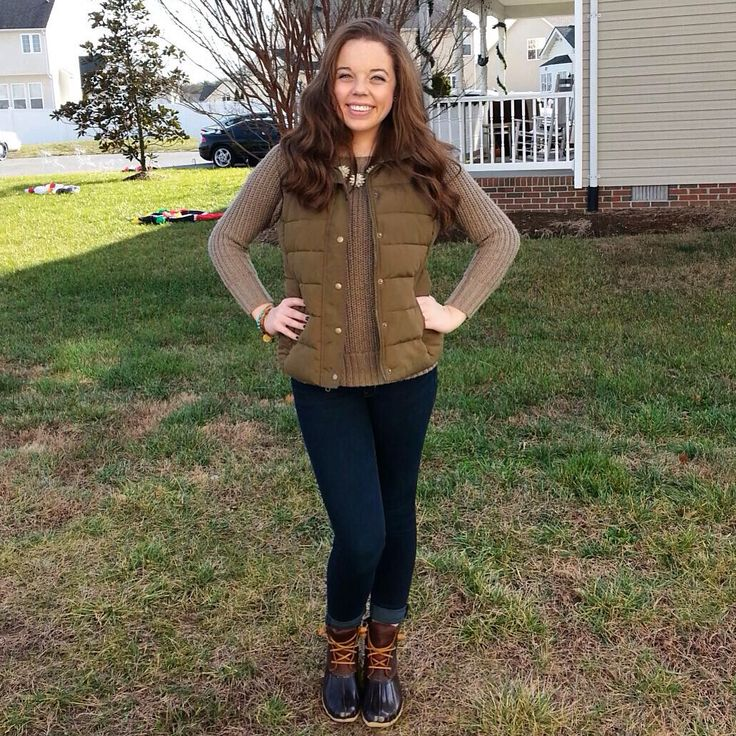 Sperry duck boots outfit