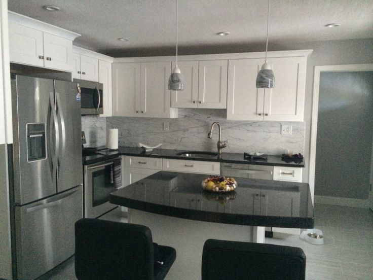 White cabinets with angola black granite counters future for P kitchen dc united