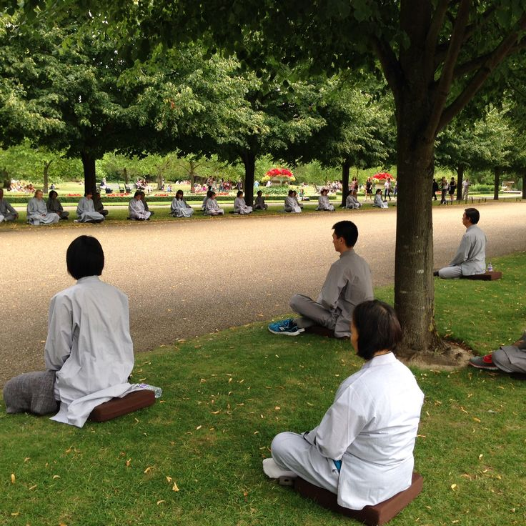 praying in the parc...