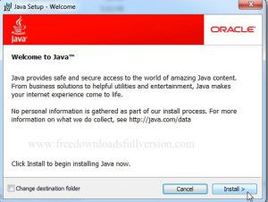 Java Runtime Environment 8.0 for windows