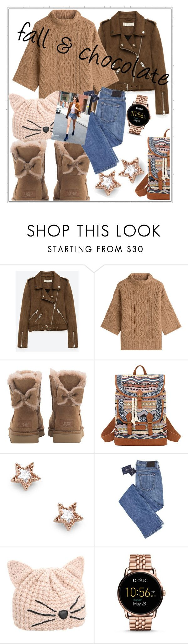 """shool day"" by frupapp on Polyvore featuring Freebird, MaxMara, UGG, Bandana, Sole Society, Karl Lagerfeld, FOSSIL, StreetStyle, school and Work"