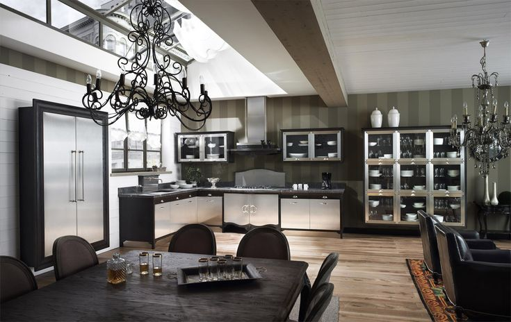 Ultra modern chic kitchen! elegant and fun from Marchi Group. The Dechora