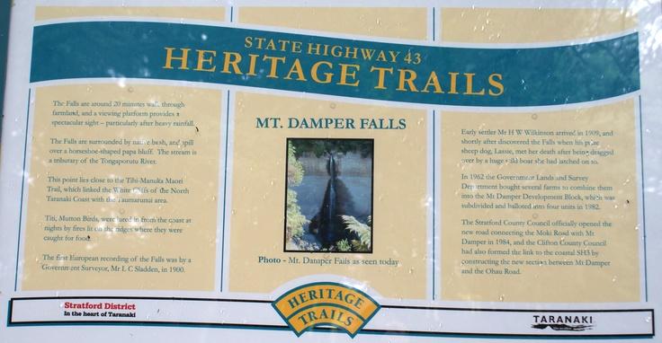 Mount Damper Falls Information Board