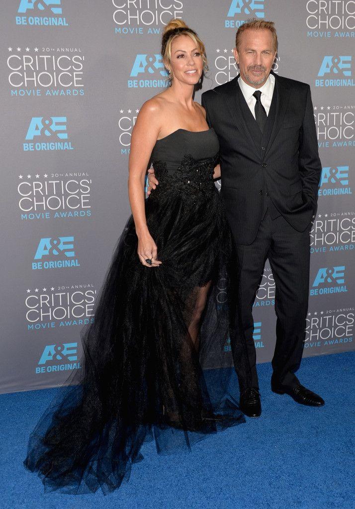 Christine Baumgartner (L) and honoree Kevin Costner