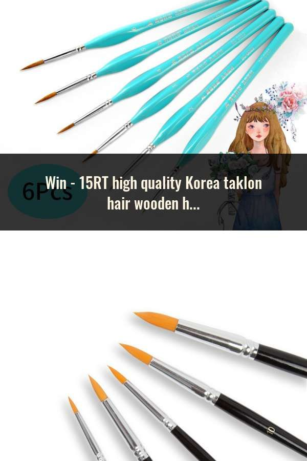 15rt High Quality Korea Taklon Hair Wooden Handle Art Paint