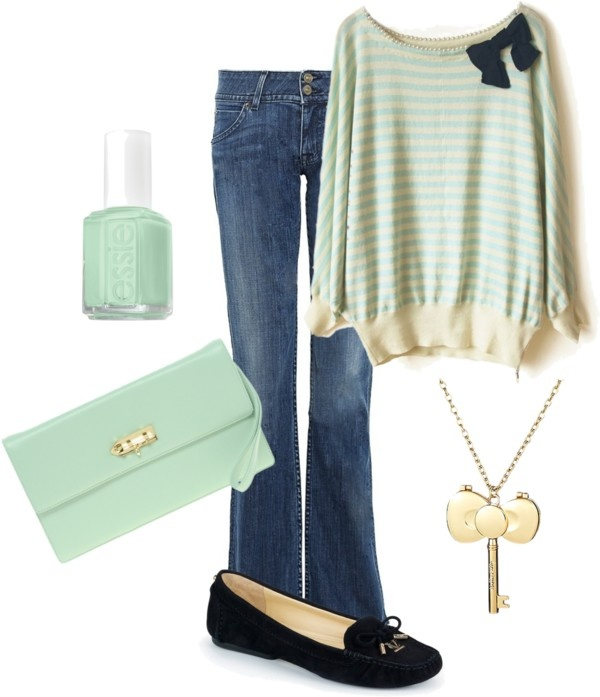 """""""#mint #bow #fall"""" by lildill26 on Polyvore"""