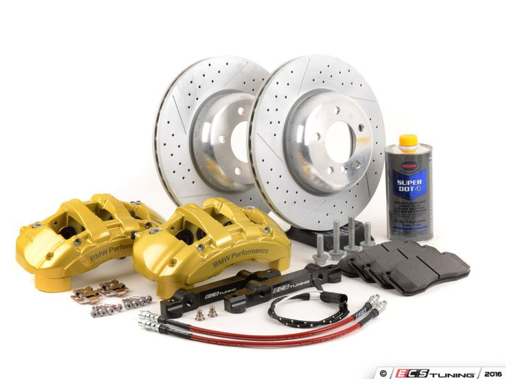 BMW E39 528i M52 2.8L Braking Performance - 000249ECS01KT - ECS 6-Piston Front Big Brake Kit (338x26)