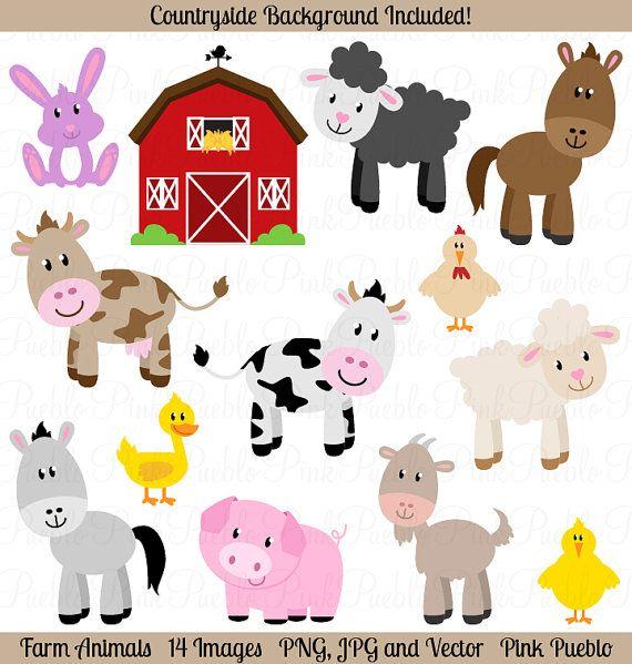 Imágenes Prediseñadas de animales de granja animales por PinkPueblo