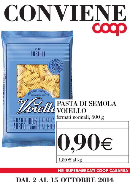 Pasta Voiello a 90 centesimi nei negozi Coop casarsa, scopri qui anche le altre promozioni per te >> http://www.coopcasarsa.it/promozioni