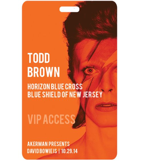 Todd Brown Horizon Blue Cross Blue Shield of New Jersey Akerman presents: David Bowie #eventpasses #entertainment #bowie #vipaccess #allaccess