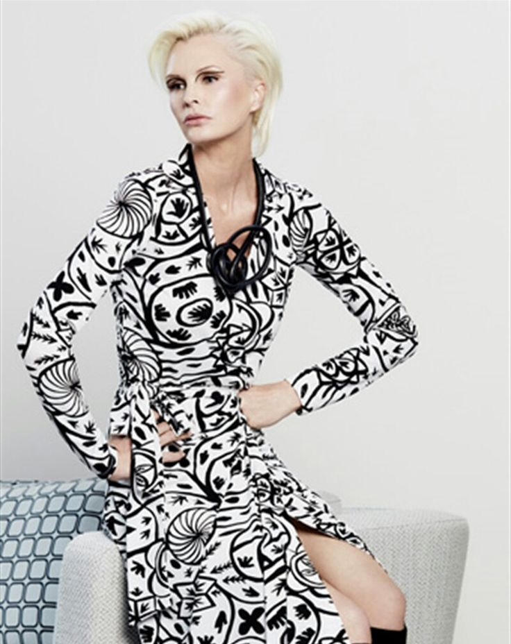 Wrap Dress | Black and White | Paula Ryan Fashion.