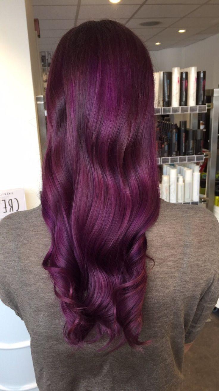 One of my absolute favorite  #purple #purplehair #longhair #shiny #hair #hairinspo #curls #girl #nofilter #wella #revlon #olaplex #olaplexnorge #norway #hairdresser