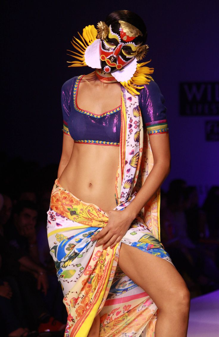 Models walk the ramp designer Nida Mahmood at Wills Lifestyle India Fashion Week 2013.