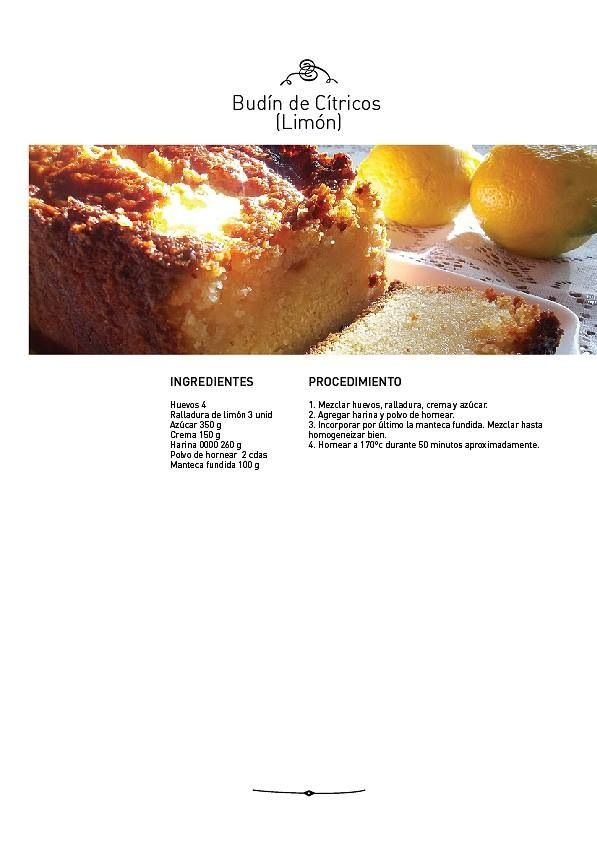 Budín de Cítricos (limón)