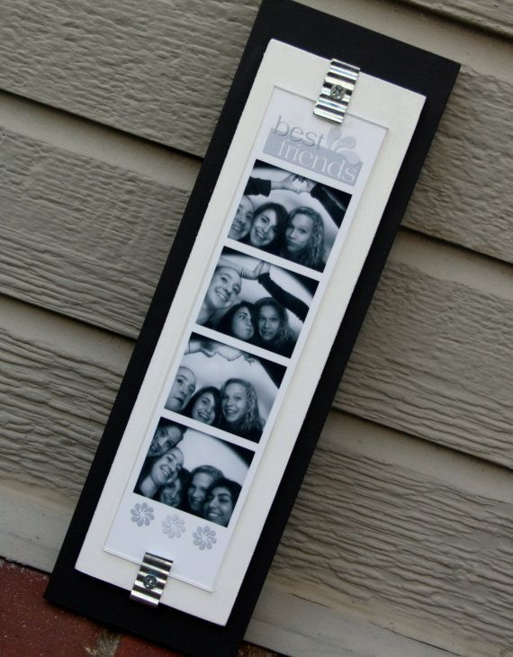 Photo Booth Picture Frame Wood Holds A 2 X 8 12 Photo Strip