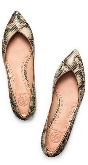 21 Обожаю змеиный принт Tory Burch Nicki Snake Print Flats #snakeskin
