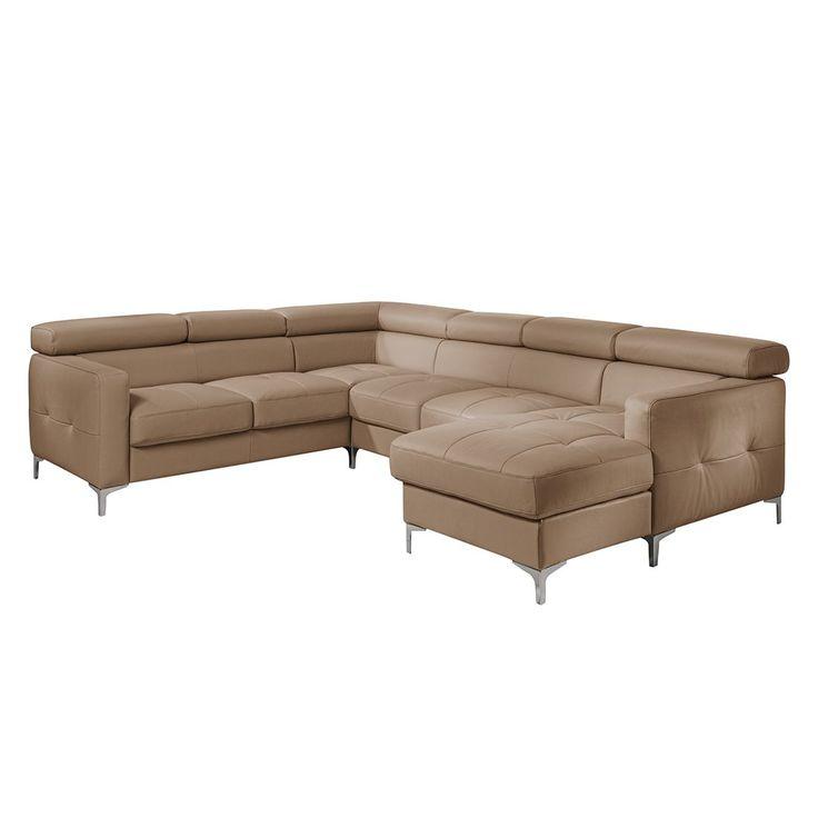 Ideal  mit Schlaffunktion Kunstleder Nougat Longchair davorstehend rechts Cotta Jetzt bestellen unter https moebel ladendirekt de wohnzimmer sofas
