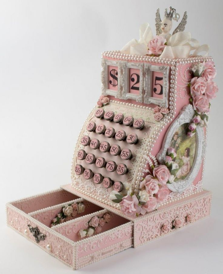 Taras amazing vintage Cash Register using the Linnaeus Botanical Journal and Pion Design Palette collections