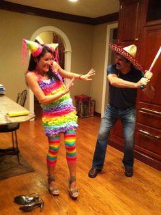 Cute couple costume! Hahahaha! Piñata! @brandonmarin26