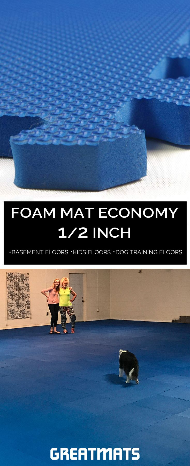 Interlocking Foam Mat For Kids And Home Gym Foam Mats Basement Flooring Foam Mat Flooring