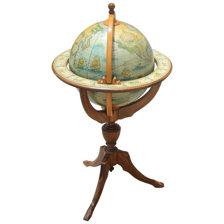 French Mid-Century Modern World Globe Bar, circa 1960s | From a unique…