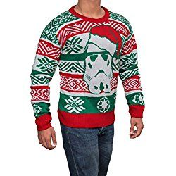 Ugly Christmas Sweater Star Wars Storm trooper Men's Red/White/Green