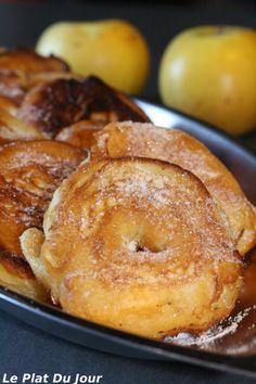 Beignets aux pommes et à la cannelle #recette beignet #pomme #facile