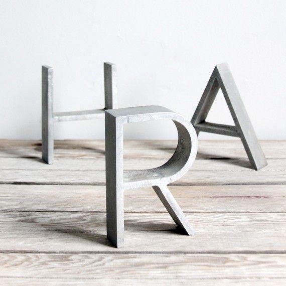 vintage art deco metal sign letters