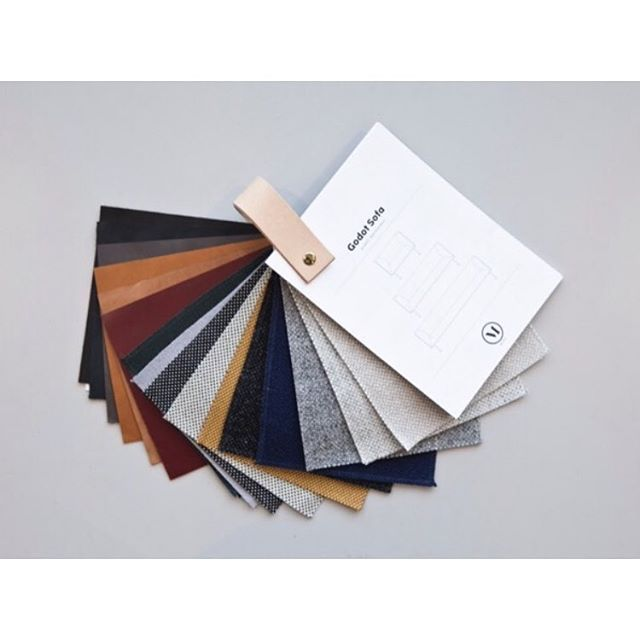Color palette . Leather from @sorensenleather & @kvadrattextiles #menuworld #modernismreimagined