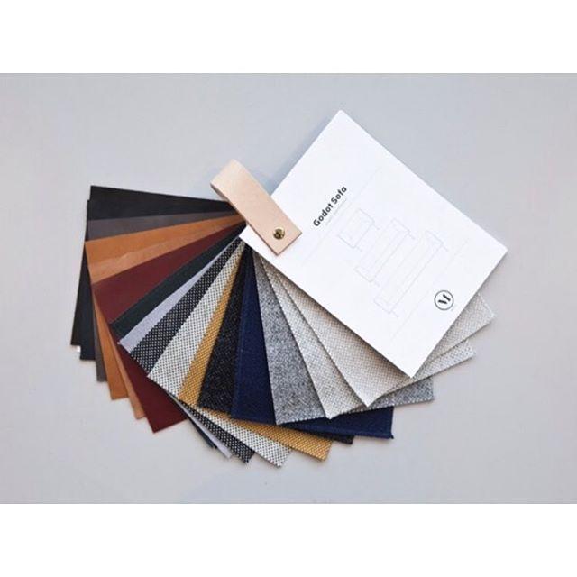 Color palette . Leather from @sorensenleather & @kvadrattextiles #menuworld #modernismreimagined