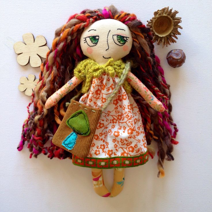 Meadow Woodland Girl - handmade cloth doll by EilishTree on Etsy https://www.etsy.com/ie/listing/527611114/meadow-woodland-girl-handmade-cloth-doll