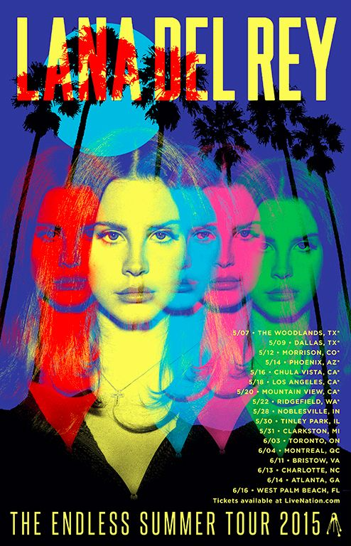 New! Alleged Official Poster of Lana Del Rey's Endless Summer Tour 2015 #LDR  [YESSSS!!]