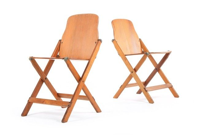 Vintage Storkline Folding Chairs - Mr. Bigglesworthy Designer Vintage Furniture Gallery