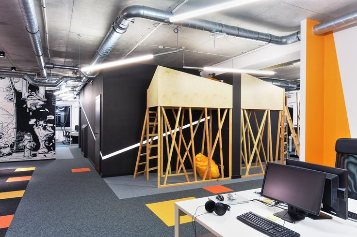 Dream office, bed in office, arsthanea, concrete ceiling, pikstudio design award,