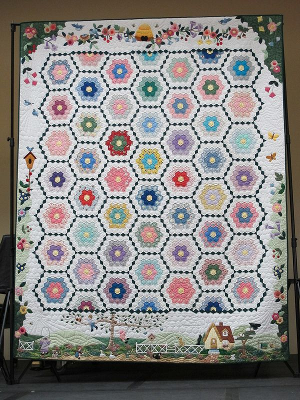 1000 images about quilts grandmother 39 s flower garden on - Grandmother s flower garden quilt ...