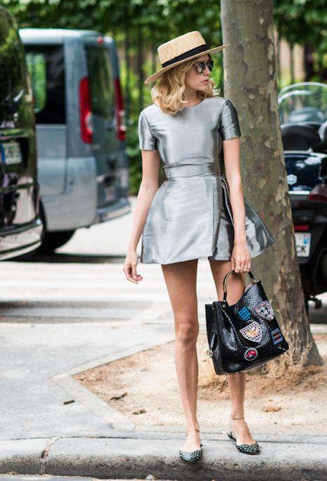 Metallic dress. More DIY fashion inspiration: www.lamaisonvictor.com