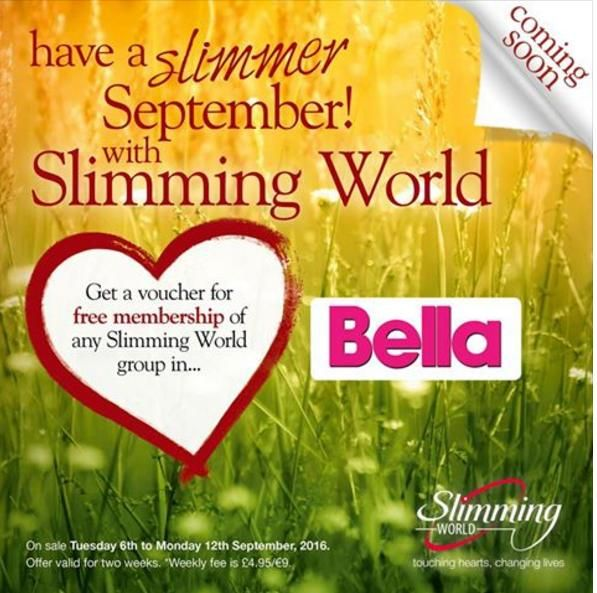 Slimming World voucher in Bella magazine